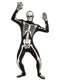 Mens Disappearing Man - Skeleton (Standard) Costume - PartyBell.com Dark Costumes, Cool Costumes, Adult Costumes, Halloween Costumes, Skeleton Costumes, Holiday Costumes, Skeleton Bodysuit, Skeleton Hoodie, Skeleton Skin