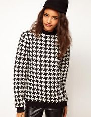 ASOS Sweatshirt in Quilted Dogtooth