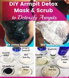 Are you looking for DIY armpit detox mask and armpit detox scrub that detoxify a in 2020 Skin Tips, Skin Care Tips, Detox Maske, Rosehip Oil For Skin, Armpit Rash, Baking Soda Face Scrub, Detox Organics, Lemongrass Essential Oil, Essential Oils