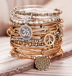 Love these stacked bracelets!