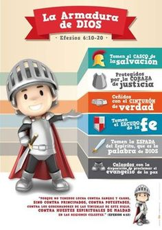 la armadura de dios para niños - Buscar con Google