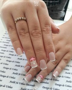 Super Ideas For Spring Manicure Classy Art Designs Toe Nail Art, Toe Nails, Ladybug Nails, French Manicure Acrylic Nails, Manicure Colors, Nail Polishes, Minimalist Nails, Silver Nails, Types Of Nails