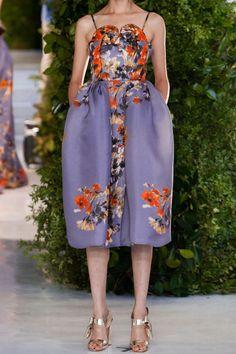 DELPOZO|Floral-print dress|NET-A-PORTER.COM , I love this clever peplum and raise neckline.