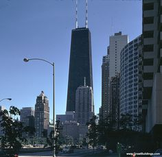 Top 10 Tallest Buildings in USA | Incredible Pictures, John Hancock Center, Chicago 1,127 ft.
