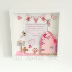 So girly! Pink fairy door frame.