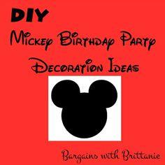 DIY Mickey Birthday Party Decoration Ideas Bargains with Brittanie