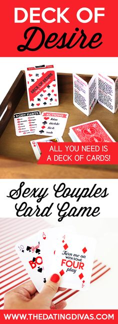 What an easy, fun bedroom idea! All you need is a deck of playing cards... I'm definitely using this sexy card game!