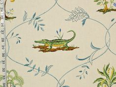 Monkey fabric alligator peacock cheetah by BrickHouseFabrics