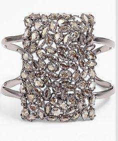 Alexis Bittar Miss Havisham Pavo Cuff Miss Havisham, Cuff Bracelets, Bangles, Fashion Accessories, Fashion Jewelry, Ornaments Design, Jewelry Companies, Luxury Jewelry, Statement Jewelry