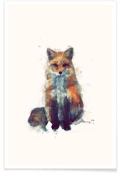 Fox als Premium Poster