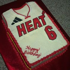 Jersey cake. Lebron James. - Lebron James jersey. French vanilla with butttercream.