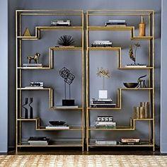 "260 Likes, 5 Comments - ELLE Decoration (@elledecoration_nl) on Instagram: ""De Mansfield Étagère heeft planken van spiegels en het frame is bedekt met bladgoud. #interieur…"""