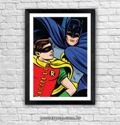 Poster Batman e Robin Vintage