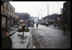 Rain swept street, Chungking, 1945 (RB-t890) © 2010 Rosemary Booker