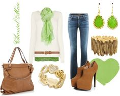 """""""green and brown"""" by cmarie2683 on Polyvore"""