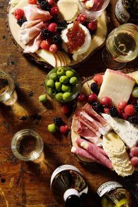 Holiday Fruit and Cheese Board