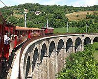"""Twenty kilometers south of Grenoble (France), the """"Chemin de fer de La Mure"""" draws a link between two small cities: St Georges de Commiers and La Mure d'Isère."""