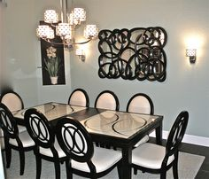 Designing your way around a small dining space Elegant Dining Room, Small Dining, Chandelier, Room Decor, Concept, Interiors, Ceiling Lights, Inspiration, Home