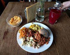 Vegan buffet at Cafe Morgenrot - tofu scramble and bean curd frijoles particular highlights! #Berlin #vegan #vegansofig #whatveganseat #veganbrunch  (at Café Morgenrot)  www.nowiseeclearer.com