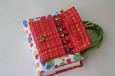 Scripture cover/carrier for the kiddos for church!  Crayon holder & spot behind for a little notebook.