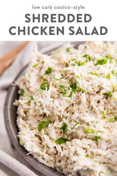 A delicious and versatile shredded chicken salad recipe that tastes so much like Costco& Great for baby and bridal showers, picnics, meal prep, it& naturally paleo, and low carb friendly. Shredded Chicken Salads, Keto Chicken Salad, Chicken Recipes, Costco Chicken Salad, Chicken Salad Recipe Easy Healthy, Rotisserie Chicken Salad, Simple Chicken Salad, Canned Chicken Salad Recipe, Greek Yogurt Chicken Salad
