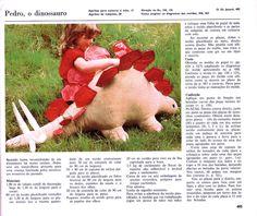 Arte e croche: Jacaré e dinossauro de pano - PAP e molde