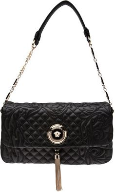 Versace. Versace BrandQuilted Shoulder BagsBlack ... 3c6fb2f45bacd