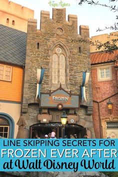 Want to ride on Frozen Ever After without long waits? Tips, hacks, and line skipping secrets for this popular attraction in Epcot at Walt Disney World, even if you can't snag a Fastpass for it! Disney World Tickets, Disney World Florida, Disney World Parks, Disney World Planning, Walt Disney World Vacations, Disney World Resorts, Disney Worlds, Disney Travel, Disney World Tips And Tricks