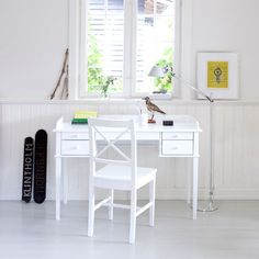 White Scandanavian Desk Or Dressing Table by Nubie Modern Kids Boutique, the perfect gift for Explore more unique gifts in our curated marketplace. Dressing Table With Mirror And Stool, Childrens Dressing Table, Black Dressing Tables, Dressing Table Desk, Childrens Desk, White Wood Desk, White Desks, White Desk Target, Oliver Furniture
