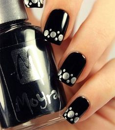 """Top 25 Pretty Dark Gel Nail Art Designs Trendy 2018 Have you heard that dark gel nail art is back? I didn't know that dark had ever went anyplace as it appears to have dependably been the shade of tastefulness and straightforwardness, yet Essence drew out a genuine dark inside their gel nail clean gathering and named it """"Dark is"""