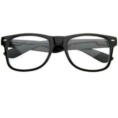 Retro Clear Lens Nerd Geek Horned Rim Glasses 2873 ($9.99) ❤ liked on Polyvore featuring accessories, eyewear, eyeglasses, glasses, jewelry, sunglasses, clear wayfarer glasses, horn eyeglasses, wayfarer glasses and retro style eyeglasses