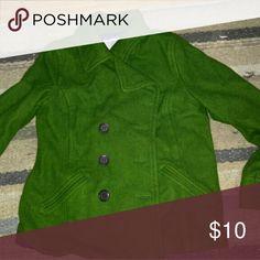 Green pea coat Very good condition! Size medium... Old Navy brand Jackets & Coats Pea Coats