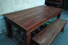 Rustic Teak Dining Table