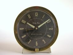 #Vintage Alarm #Clock - Westclox Baby Ben White with Brown Face and Gold Trim #forthehome $25.00, via Etsy.