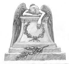 angel tombstone drawing - Google Search