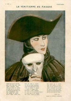 Venetian Masquerade  Barbier-1925