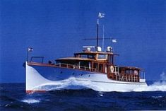 Classic Commuter Yacht Jessica built in 1930, designed by John H. Wells. Under building