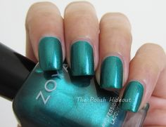Giovanna is a cool-toned, teal-leaning emerald green with lots of shimmers in a metallic finish. Description from thepolishhideout.blogspot.com. I searched for this on bing.com/images