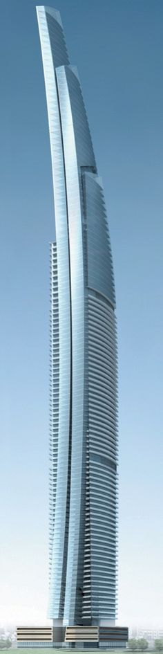 90-floor DAMAC Heights residential tower under construction in Dubai, UAE [Futuristic Architecture: http://futuristicnews.com/category/future-architecture/]