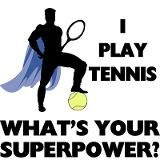Haha I have...well USED to have super strength...enough for a ball to break my opponents racquet in HALF! ;) I wish I knew someone that I could play against now...I miss playing. You know you miss playing when you keep your tennis bag in your trunk @ all times. *Athena* keeps it safe! lol