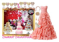"""""""Sweet Seventeen"""" by delianasaa ❤ liked on Polyvore featuring Chanel, Nearly Natural, Wilton, Juicy Couture, Monique Lhuillier, Cult Gaia, Wet Seal and Lipsy"""