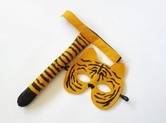Tiger Costume for Children, Mask and Tail
