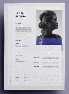 Basic resume templates to make your CV professional. All of these visual resume templates come with a matching cover letter and reference page. Web Design, Design Sites, Graphic Design Resume, Creative Resume Design, Design Trends, Portfolio Web, Design Portfolio Layout, Portfolio Resume, Design Portfolios