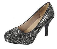 2b87ceae2b315 Cambridge Select Women s Crystal Glitter Closed Toe High ... https   www