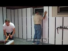 Frame and Insulate a Basement Wall in Under 10 Minutes. Cost To Refinish Basement. 65671410 Cool Basement Ideas For Teenagers. Basement Decorating Ideas And Projects Insulating Basement Walls, Basement Wall Panels, Basement Insulation, Wall Insulation, Basement Flooring, Basement Stairs, Flooring Ideas, Teen Basement, Cool Basement Ideas