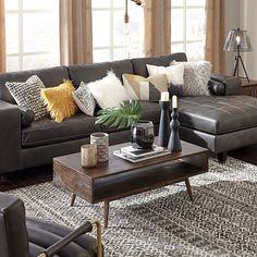 Signature Design by Ashley Decker 2 Pc Sectional with Right Arm Facing Sofa JCPenney Living Room Sectional, Living Room Grey, Living Room Sets, Home Living Room, Interior Design Living Room, Living Room Furniture, Living Room Designs, Living Room Decor, Furniture Decor