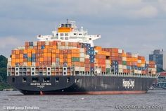 Container ships - Ship to Rail to Truck - Intermodal shipping