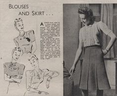 1943 blouses and skirts