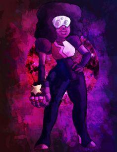 Steven Universe Garnet Crystal Gem Art Print by JellyBreShop