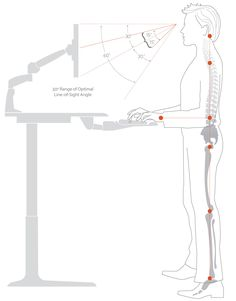 Get the facts about standing desks and good ergonomics, specifically why standing and sitting in excess is bad, and movement is key. Standing Desks, Man Standing, Workrite Ergonomics, Office Accessories, Flyer Design, Workplace, Wellness, Facts, Health
